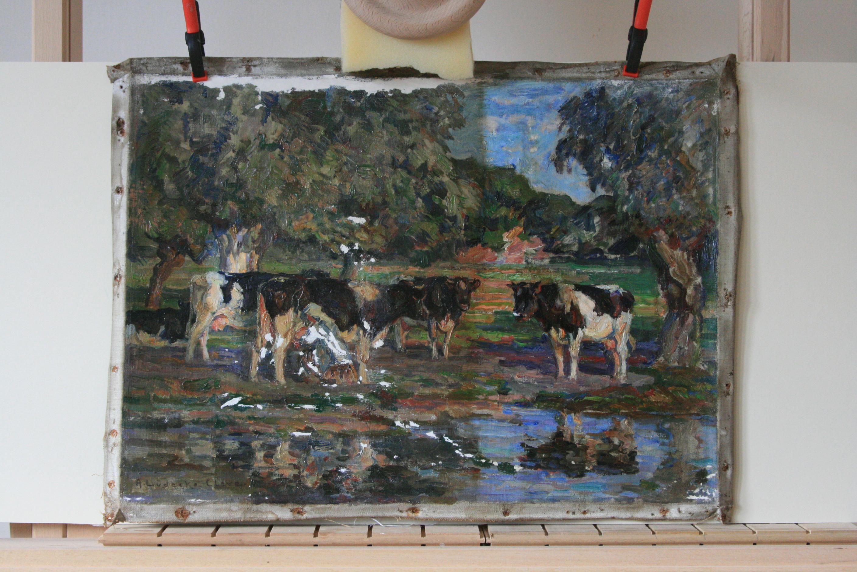 Top Restaurierung Gemälde auf Leinwand Ölgemälde | Kunstkonservierung HR62